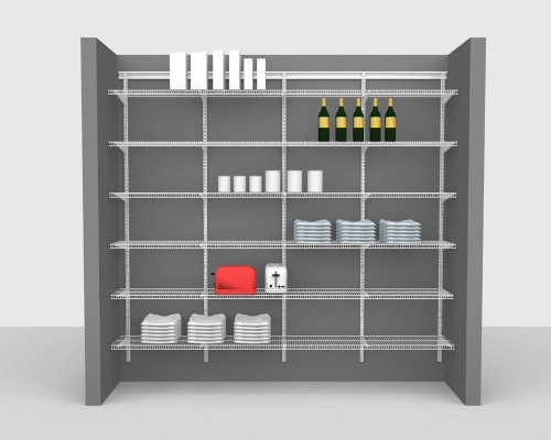 Adjustable Package 1 - ShelfTrack with CloseMesh shelving up to 244cm / 8' wide