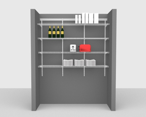 Adjustable Package 3 - ShelfTrack with CloseMesh shelving up to 183cm / 6' wide