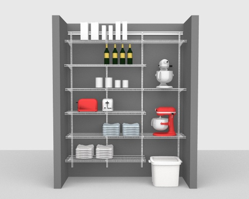 Adjustable Package 4 - ShelfTrack with CloseMesh shelving up to 183cm / 6' wide