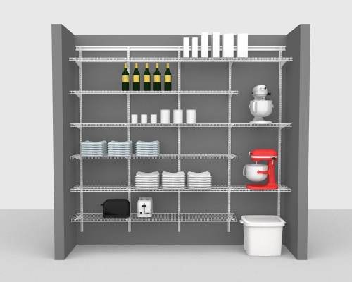 Adjustable Package 4 - ShelfTrack with CloseMesh shelving up to 244cm / 8' wide