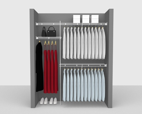 Fixed Mount Package 1 - Shelf & Rod shelving up to 183cm / 6' wide