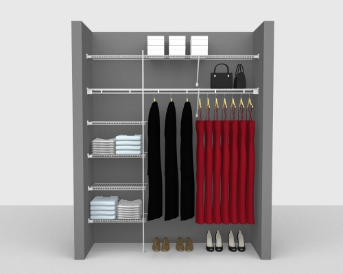 Fixed Mount Package 3 - Shelf & Rod shelving up to 183cm / 6' wide