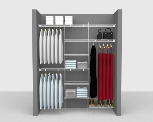 Fixed Mount Package 4 - Shelf & Rod shelving up to 183cm / 6' wide