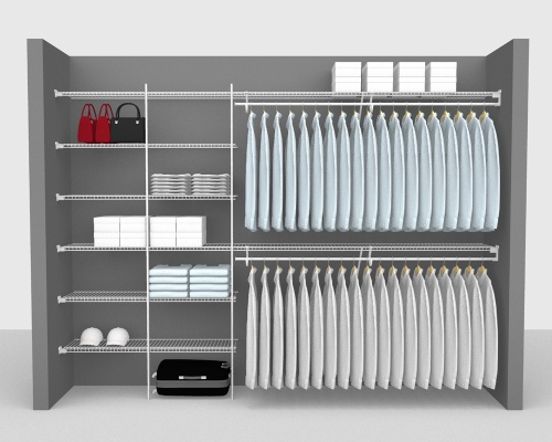 Fixed Mount Package 2 - SuperSlide shelving up to 305cm / 10' wide