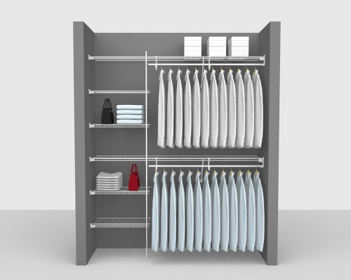 Fixed Mount Package 2 - SuperSlide shelving up to 183cm / 6' wide
