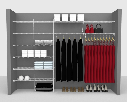 Fixed Mount Package 3 - SuperSlide shelving up to 305cm / 10' wide