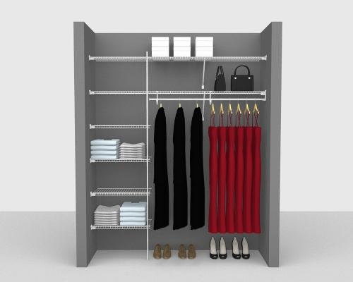 Fixed Mount Package 3 - SuperSlide shelving up to 183cm / 6' wide