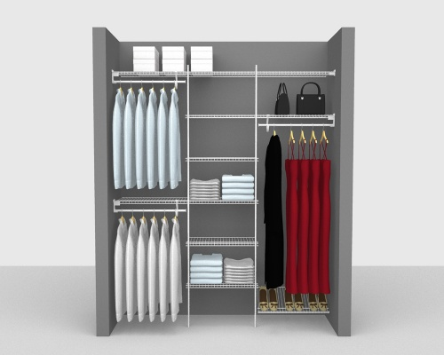 Fixed Mount Package 4 - SuperSlide shelving up to 183cm / 6' wide