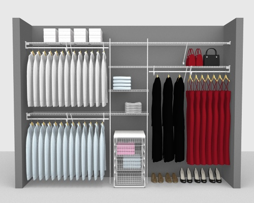 Fixed Mount Package 5 - SuperSlide shelving up to 305cm / 10' wide