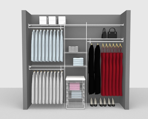 Fixed Mount Package 5 - SuperSlide shelving up to 244cm / 8' wide
