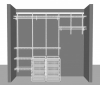 Adjustable closet package 4