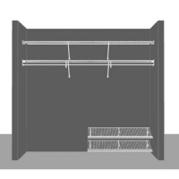 Cloakroom Layout 2, 2.44m / 8' wide
